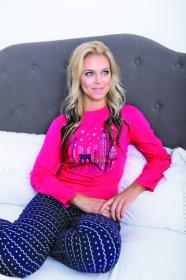 Dámské pyžamo dvoudílné růžové