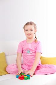 Dětské pyžamo růžové